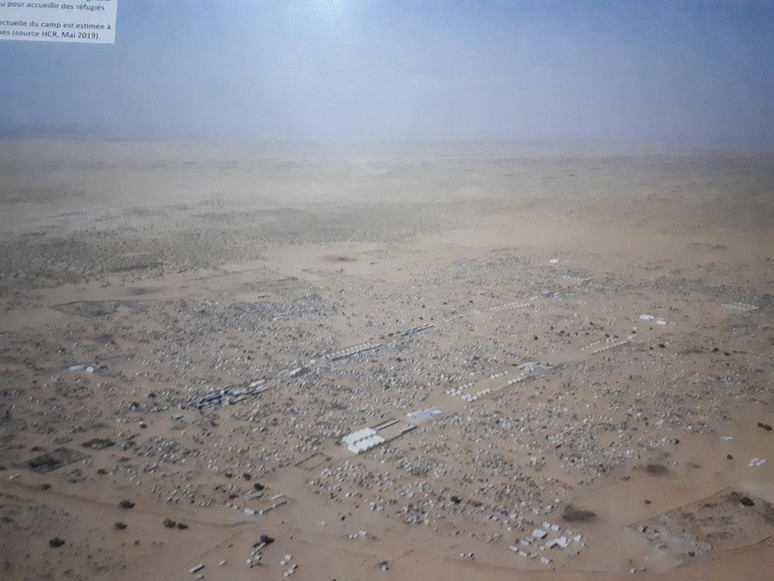 Vue aérienne du camp de MBerra